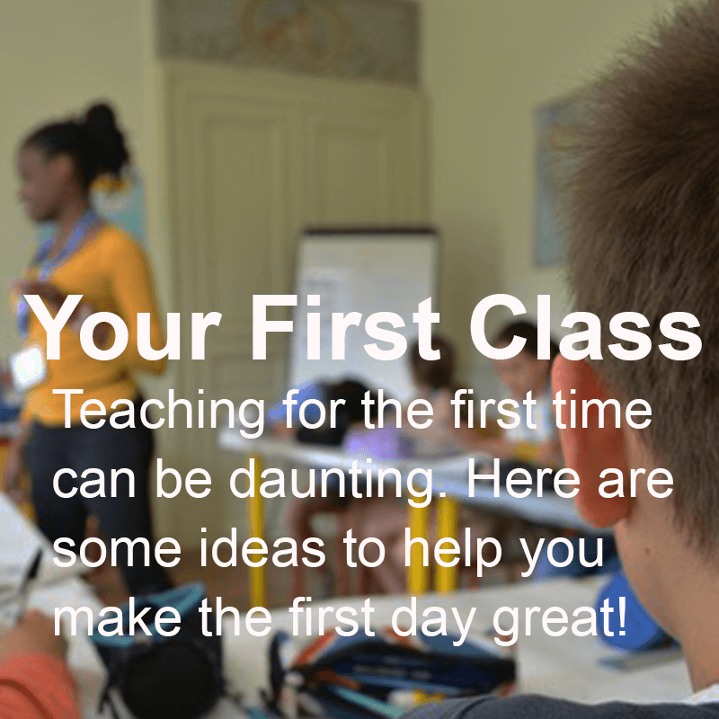 Your First Class